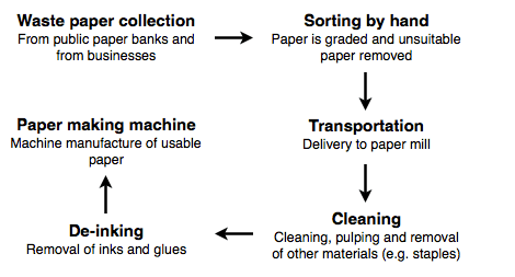 IELTS Writing Task 1 - Process of waste paper recycling